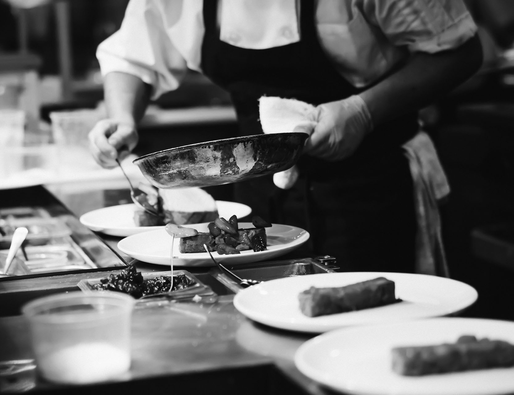 Chef Preparing Meals at The French