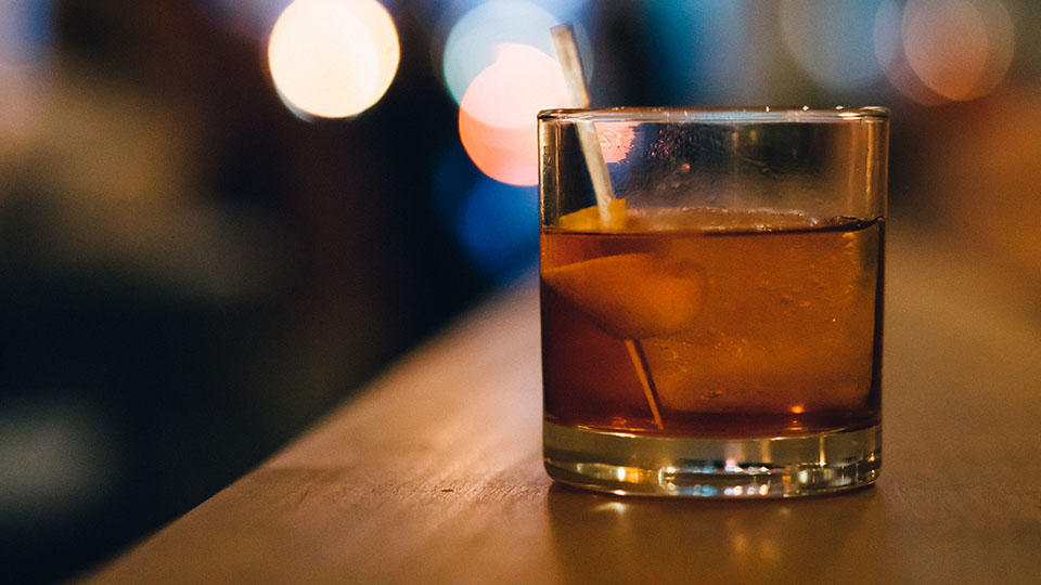 Old Fashioned on a Bar